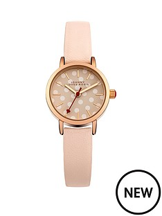 johnny-loves-rosie-nude-white-spot-dial-with-nude-pu-strap-ladies-watch