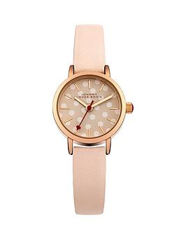 Johnny Loves Rosie Nude White Spot Dial With Nude PU Strap Ladies Watch