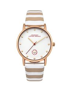 johnny-loves-rosie-johnny-loves-rosie-white-dial-nude-and-white-stripe-pu-strap-ladies-watch
