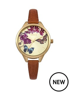 oasis-floral-dial-with-tan-pu-strap-ladies-watch