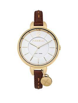 Fiorelli White Dial Tan Leather Strap Ladies Watch