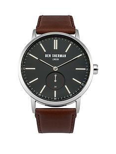 ben-sherman-ben-sherman-big-portobello-blue-dial-social-brown-leather-strap-mens-watch