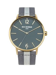 ben-sherman-ben-sherman-portobello-grey-dial-stripe-grey-nylon-strap-mens-watch