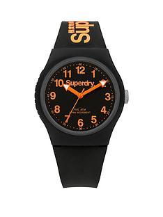 superdry-urban-black-and-orange-detail-dial-black-logo-printed-silicone-strap-watch