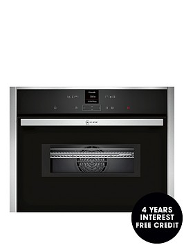 neff-c17mr02n0b-compact-built-in-oven-with-integral-microwave-stainless-steel