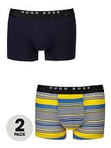 Stripe/Plain Boxers (2 Pack)