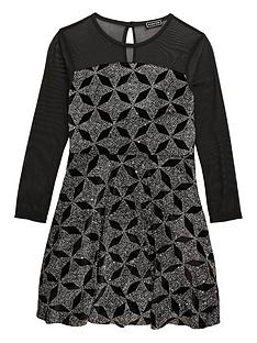 freespirit-girls-long-sleeve-sparkle-dress-with-power-mesh