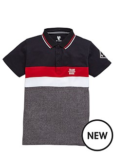 v-by-very-boys-colour-block-sporty-polo-shirt