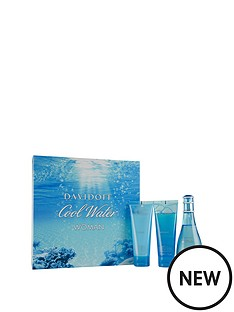 davidoff-cool-water-female-edtampnbsp100ml-body-lotion-75mlampnbspampamp-shower-gel-75mlampnbspgift-set