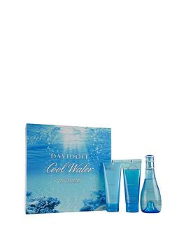 davidoff-cool-water-female-edtnbsp100ml-body-lotion-75mlnbspamp-shower-gel-75mlnbspgift-set