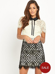 v-by-very-two-tone-collared-lace-dress