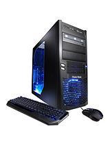 Cyberpower Gaming Armada Pro AMD FX 8320 8GB RAM 120GB SSD + 1TB HDD Storage Desktop Base Unit with Nvidia GTX 970 4GB graphics - Black/Blue