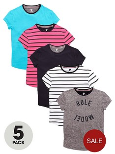 v-by-very-girls-fashion-basics-t-shirts-5-pack