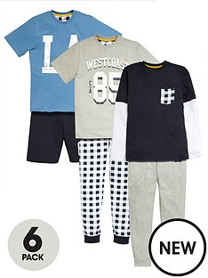 v-by-very-boys-collegiate-pyjamas-6-pack