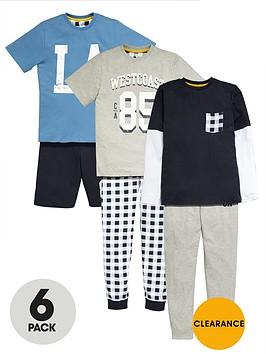 v-by-very-boys-collegiate-pyjamas-6-pack