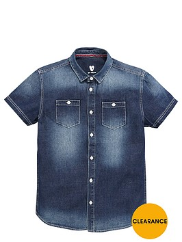 v-by-very-boys-short-sleeve-denim-shirt