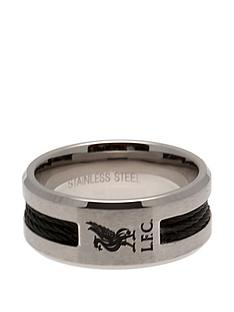 premier-league-football-stainless-steel-black-inlay-crest-ring-with-choice-of-teams