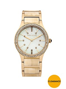 karen-millen-mother-of-pearl-dial-gold-tone-stainless-steel-bracelet-ladies-watch