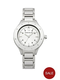 karen-millen-karen-millen-silver-stone-set-dial-silver-tone-stainless-steel-bracelet-ladies-watch