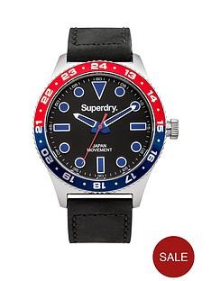 superdry-superdry-retro-sport-black-dial-black-leather-strap-mens-watch