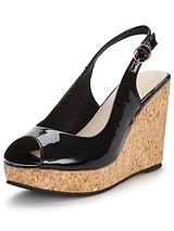 Somers Cork Platform Slingback Wedge Sandal