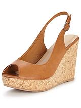 Somers Cork Platform Sling Back Wedge