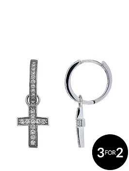 the-love-silver-collection-sterling-silver-cubic-zirconia-cross-hug