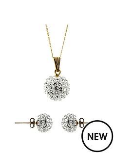 evoke-9ct-yellow-gold-crystal-ball-pendant-and-stud-earring-set