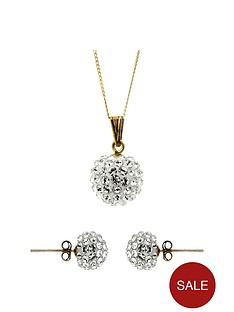 evoke-9ct-yellow-gold-crystal-ball-pendant-and-stud-earring-set