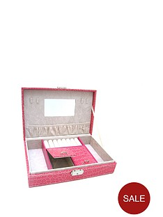 pink-mock-croc-faux-leather-lockable-jewellery-case