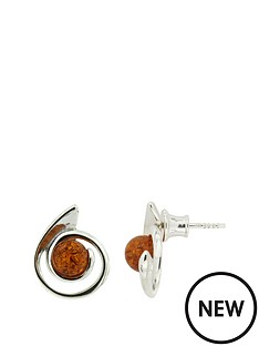 love-silver-sterling-silver-amber-swirl-earrings