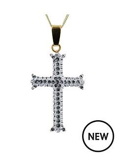 evoke-evoke-gold-plated-sterling-silver-clear-crystal-cross-pendant