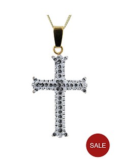 evoke-gold-plated-sterling-silver-clear-crystal-cross-pendant