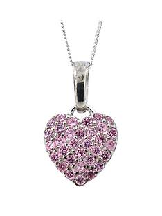 the-love-silver-collection-sterling-silver-pink-cubic-zirconia-heart-pendant