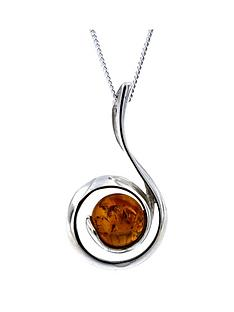 the-love-silver-collection-sterling-silver-amber-swirl-pendant