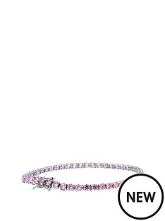 love-silver-sterling-silver-pink-cubic-zirconia-tennis-bracelet
