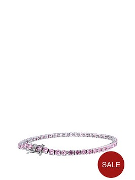 the-love-silver-collection-sterling-silver-pink-cubic-zirconia-ten