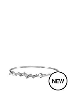 love-silver-sterling-silver-white-cubic-zirconia-flip-bangle