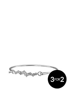the-love-silver-collection-sterling-silver-white-cubic-zirconia-flip-bangle
