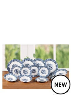 country-blue-dinner-set