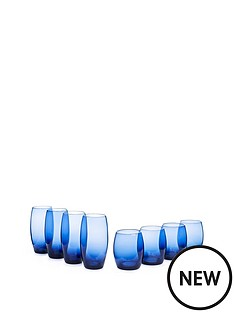 blue-tumblers-amp-highball-glasses-set-of-of-8