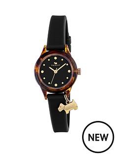 radley-radley-watch-it-tortoise-dial-with-dog-charm-black-silicone-strap-ladies-watch