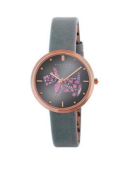 Radley Rosemary Gardens Thunder Blue Dial With Blue Leather Strap Ladies Watch