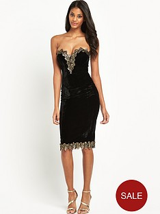 rare-metallic-velvet-midi-dress