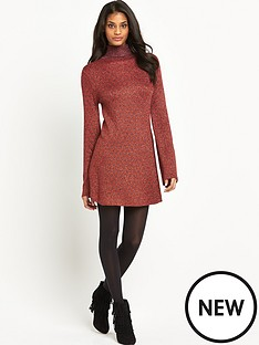 glamorous-lurex-roll-neck-dress