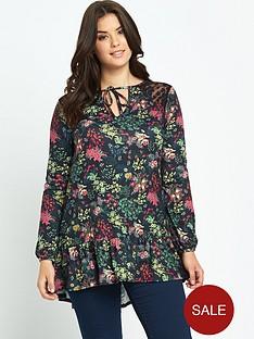 so-fabulous-lace-insert-drop-waist-jersey-tunic-top