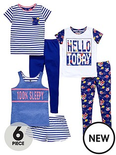 v-by-very-girls-breakfast-club-6-pc-pj-set