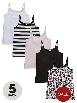 v-by-very-girls-leopard-vests-5-pack