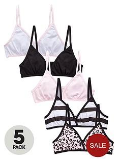 v-by-very-girls-leopard-starter-bras-5-pack