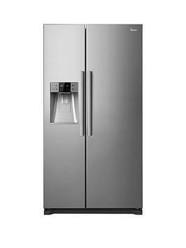 Swan Sr13010S NonPlumbed AmericanStyle Fridge Freezer  Silver